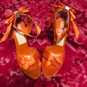 Never worn Michael Shannon orange heels!